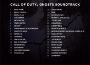 Ghosts soundtrack track list