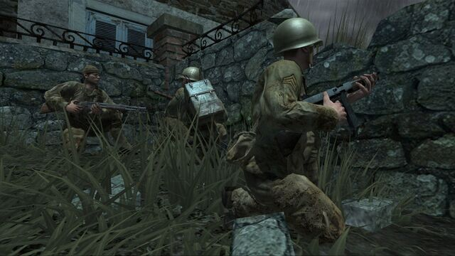 File:American soldiers take cover CoD3.jpg