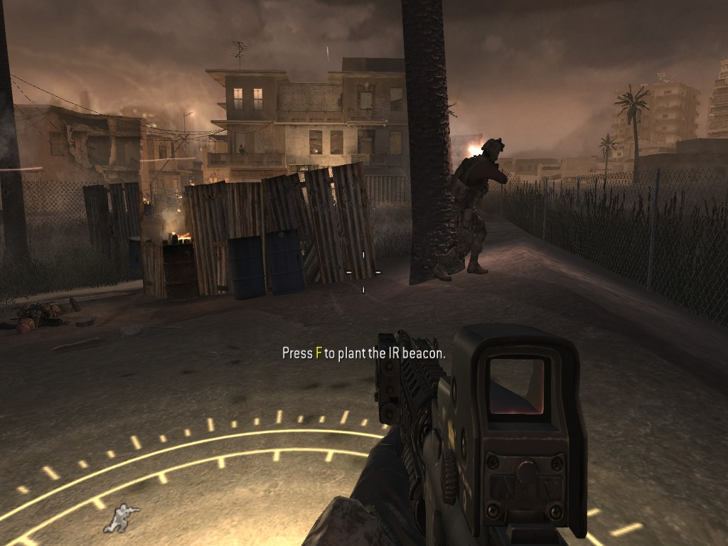 how to plant ir beacon in call of duty 4