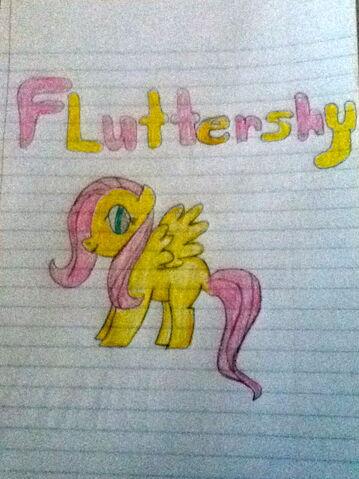 File:Fluttershy Drawing.jpg