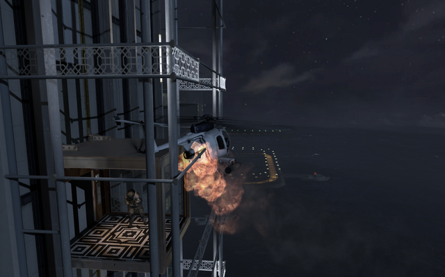 File:Littlebird crashing into the elevator MW3.png