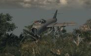 MiG-17 in-flight Operation 40 BO