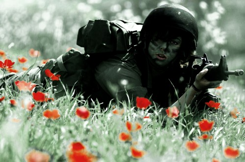File:Female-soldier-in-red-flower-bed-499x330.jpg