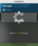 Rare Salvage Unlock Card IW
