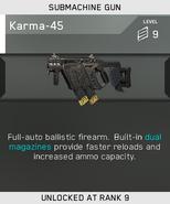 Karma-45 Unlock Card IW