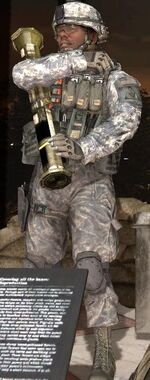 U.S. Army Ranger holding AT4 Museum MW2