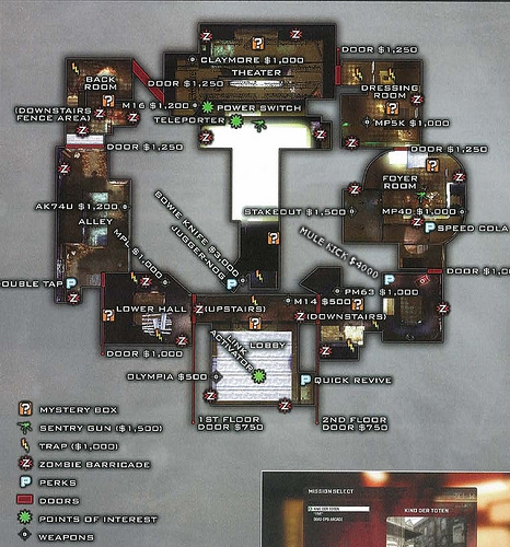Kino der Toten Map Plan