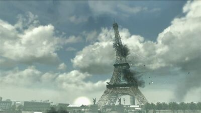 Eiffel Tower under attack Iron Lady MW3