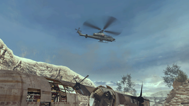File:Attack Helicopter flying over Afghan MW2.png