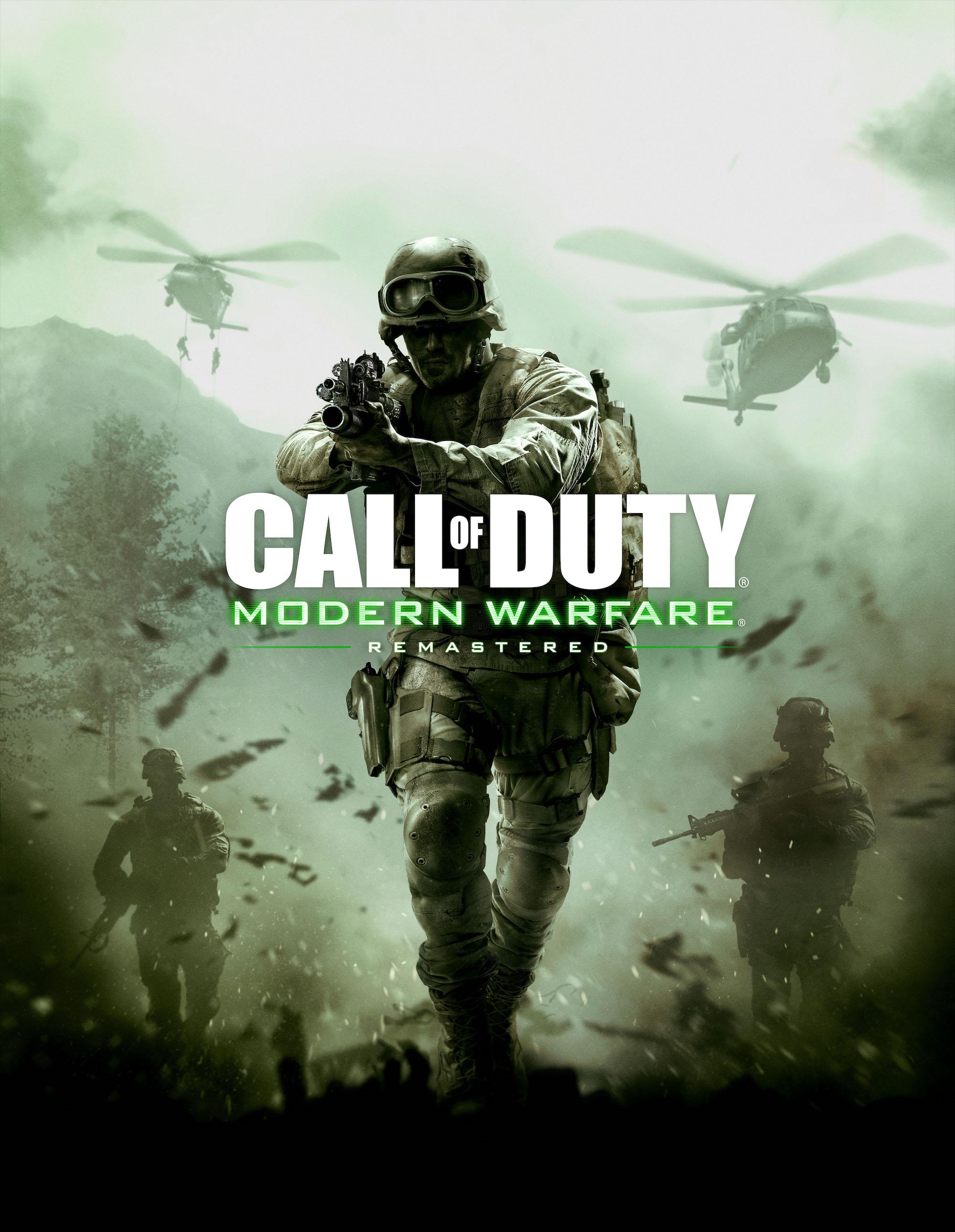 Znalezione obrazy dla zapytania call of duty modern warfare remastered okładka