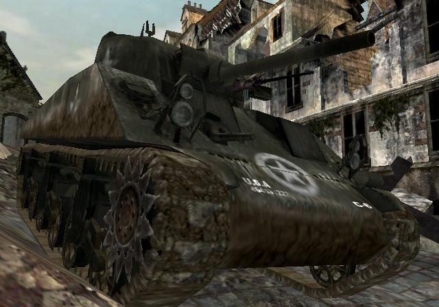 File:M4 Sherman traversing rubble CoD3.jpg