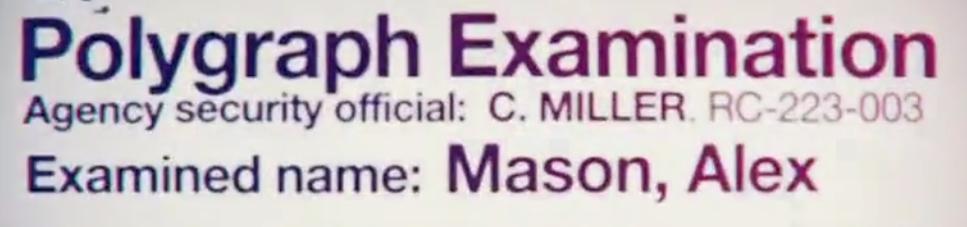 Alex Mason polygraph C. Miller