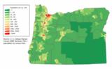 Oregon population map