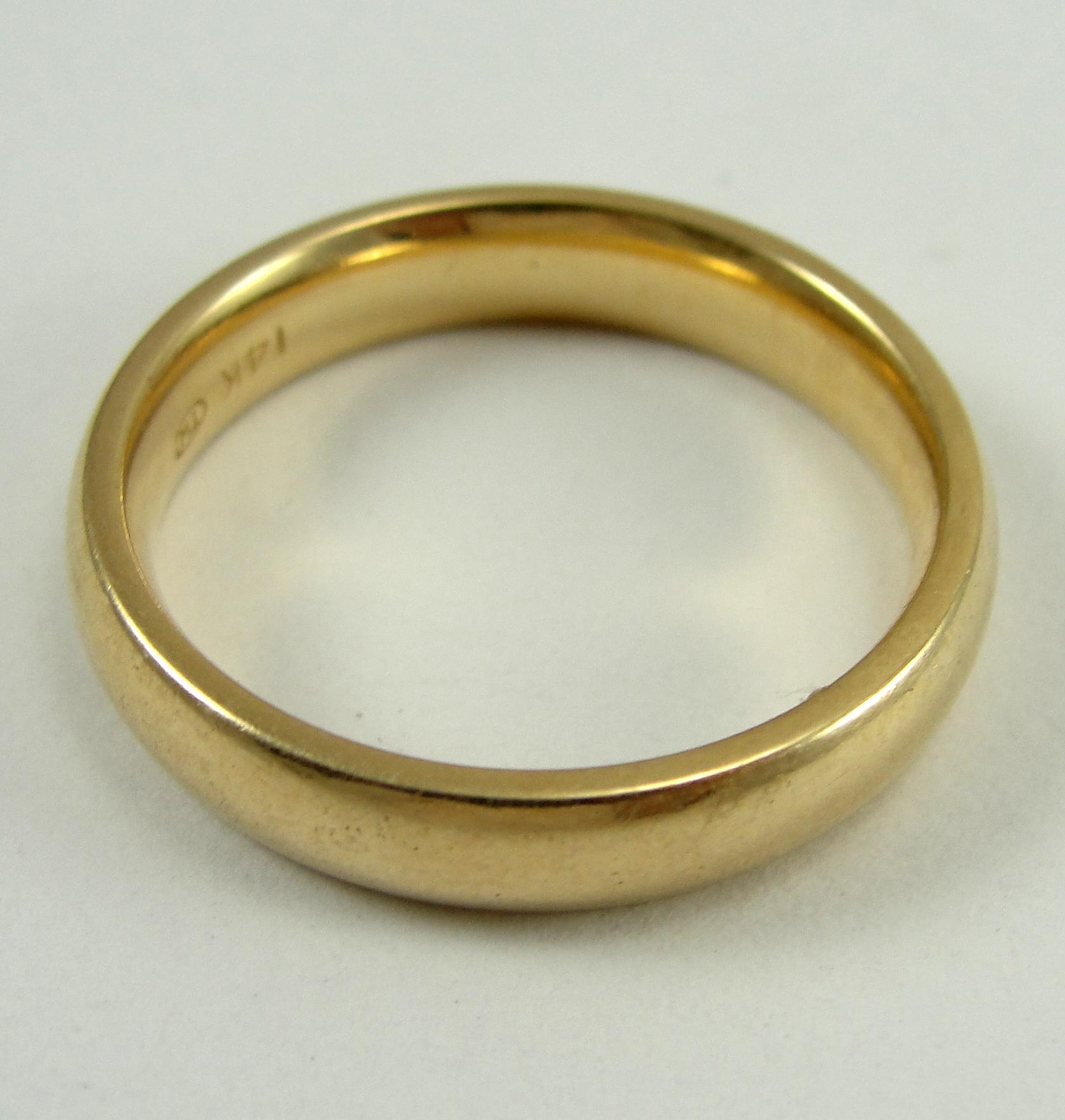 Image - 1315588494 14K-Yellow-Gold-Ring-Band-Wedding-4.15mm-Width ...