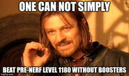 Can't pass pre-nerf Level 1180 without boosters