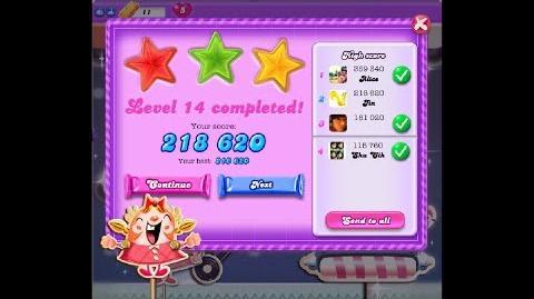 Candy Crush Saga Dreamworld Level 14 ★★★ 3 Stars