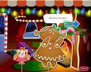Miss Gingerbread can only mumble