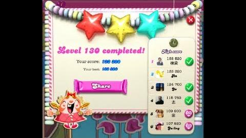 Candy Crush Saga Level 130 ★★★ no boosters 133 320 points