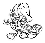 Rapunzel's early sketch