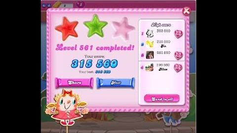 Candy Crush Saga Level 561 ★★ NO BOOSTER