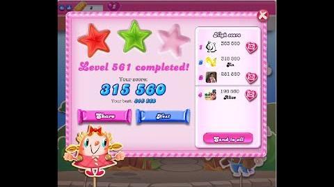 Candy Crush Saga Level 561 ★★ NO BOOSTER
