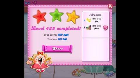 Candy Crush Saga Level 435 ★★★ NO BOOSTER