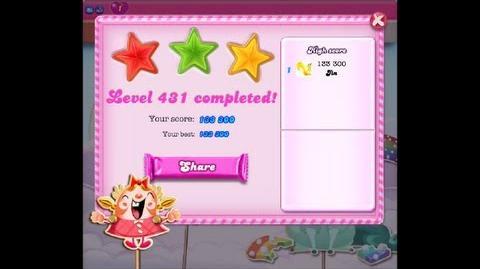 Candy Crush Saga Level 431 ★★★ - NO BOOSTER