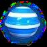 Striped blue h