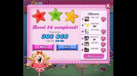 Candy Crush Saga Level 56 ★★★ NO BOOSTER