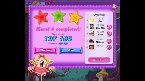Candy Crush Saga Dreamworld Level 6 ★★★ 3 Stars