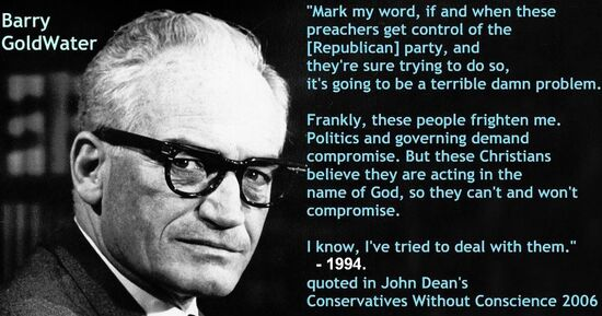 Barry Goldwater on Republican fundamentalists