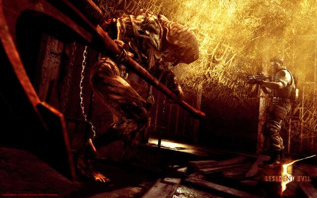 File:Resident Evil 5 - Lost in Nightmares wallpaper - Chris Redfield.jpg