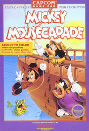 Mickey Mousecapade NES NA box art