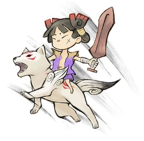 File:Okamiden Chibiterasu and Kuni.png