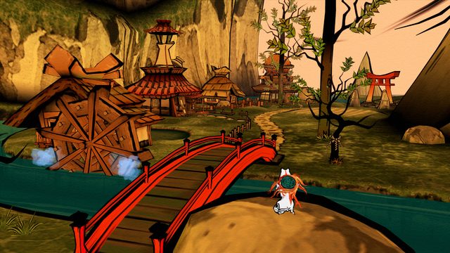 File:Ōkami HD Kamiki Village.png