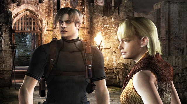 File:RE4 Leon and Ashley HD screenshot.png