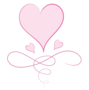 Image - Pink heart graphic with big heart little hearts ...