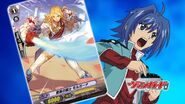 Aichi with Knight of Rose, Morgana