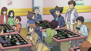 Morikawa, Eiji, Reiji, and Izaki cameo