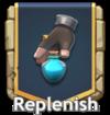 Replenish button