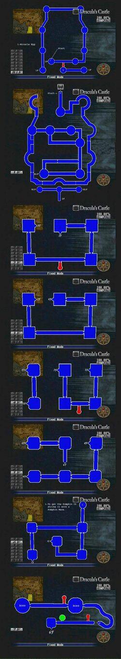 Dracula's Castle Map