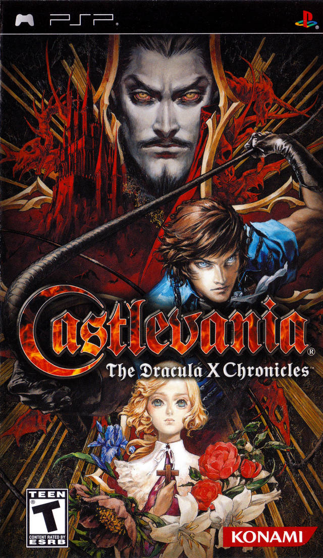 Castlevania: The Dracula X Chronicles PSP box cover art