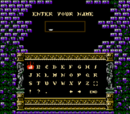 Dracula's Curse - Name Entry Screen - 01