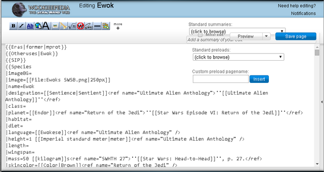 File:Example of Wookieepedia interface obscured by javascript customization (narrow).png