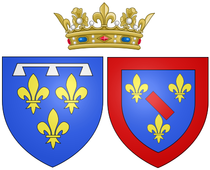 File:Arms of Louise Henriette de Bourbon as Duchess of Orléans.png