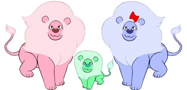 File:Cute Lion Family.png