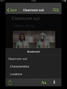 IPhone Bookmark Screen