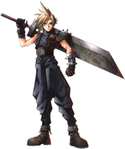 File:Cloud Strife FFVII Art.png