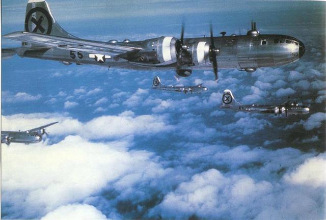 File:B-29s, Japan 1945.jpg