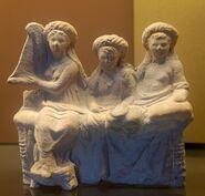 Banqueters hetaera Louvre Myr272